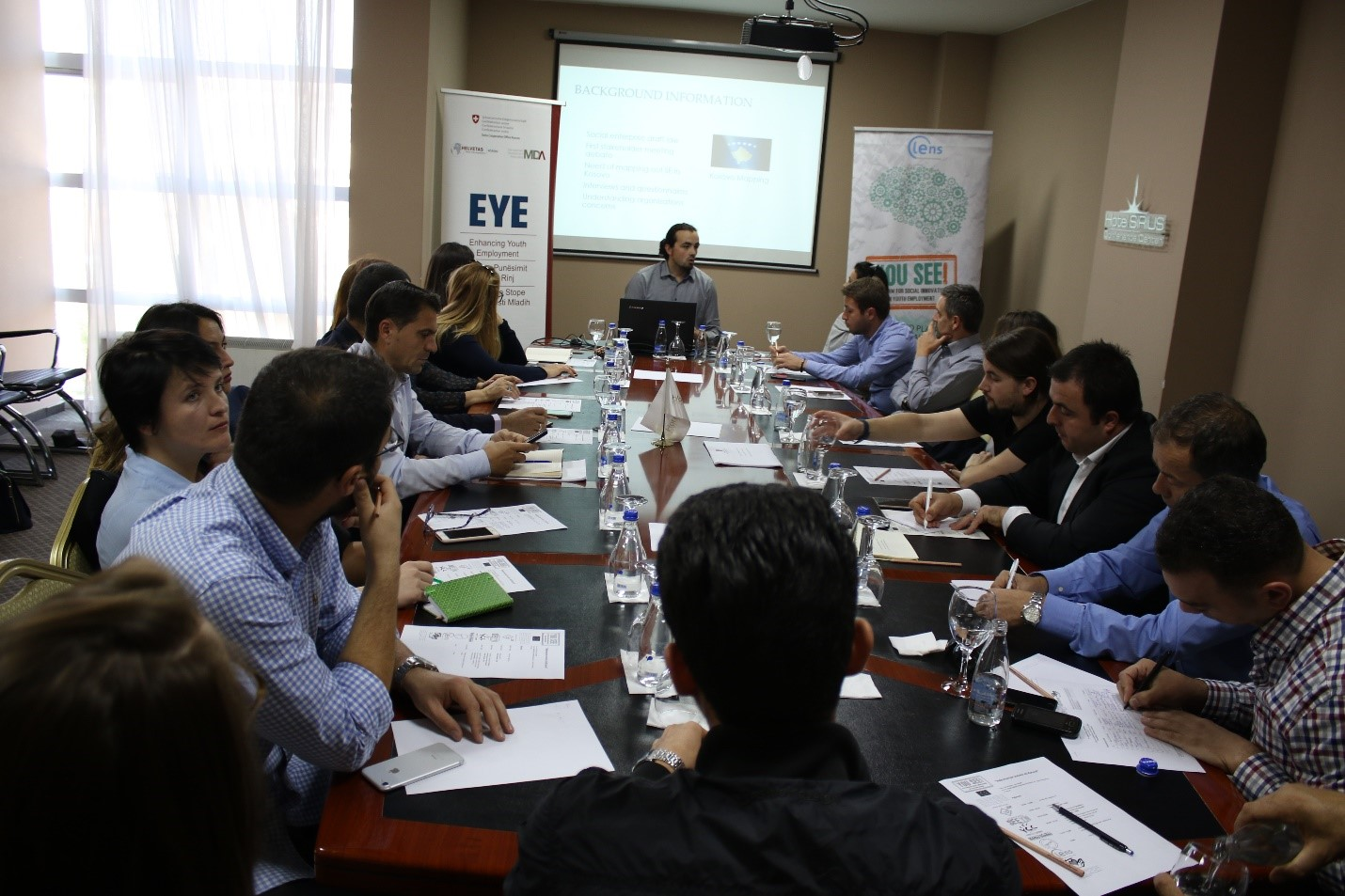 Stakeholder meeting to discuss about social enterprise trends in Kosovo